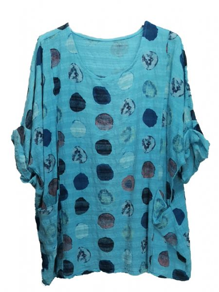 2 Pocked Spotted Tunic Top